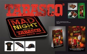 Agencja reklamowa Niceday, projekt graficzny materiałów reklamowych POS dla Tabasco Develey
