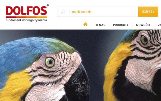 Dolfos producent mieszanek dla zwierząt, projekt logotypu