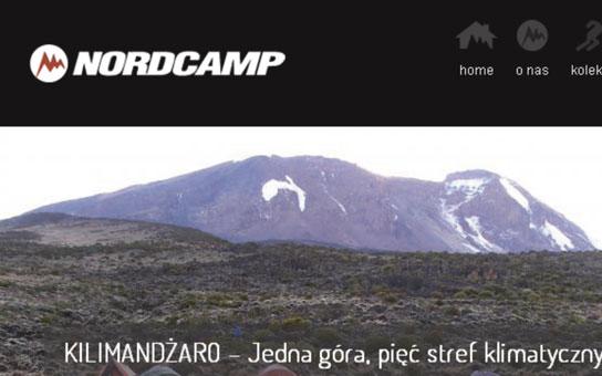 Projekt i realizacja serwisu dla fimy Nordcamp