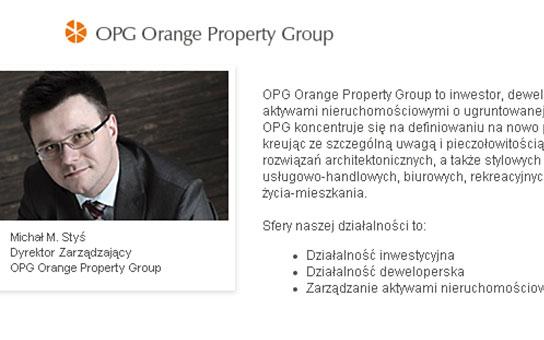 Orange Property Group materiały wspomające sprzedaż, strona www