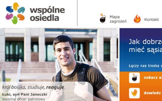 Strona internetowa Wspólne Osiedla, Komenda Wojewódzka Policji w Łodzi,