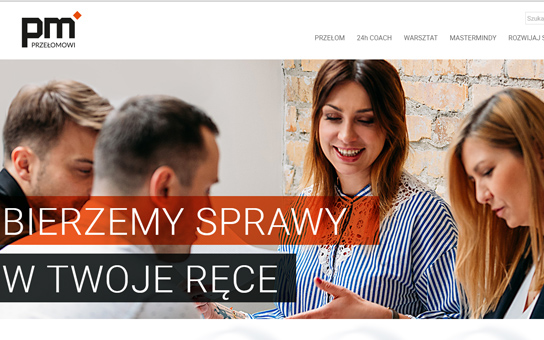 Przelomowi strona internetowa, logo