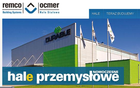 Projekt i realizacja serwisu WWW firmy ocmer Remo