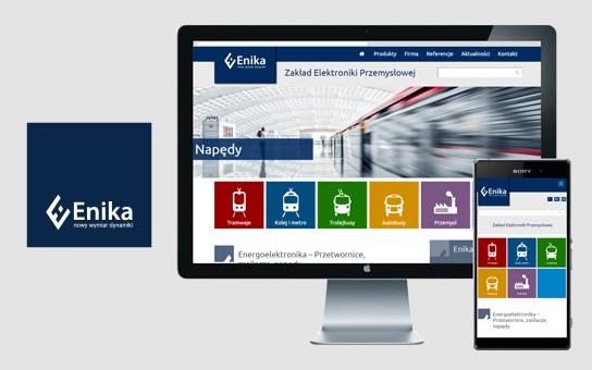 Projekt i realizacja strony internetowej dla ENIKA, projekt logo