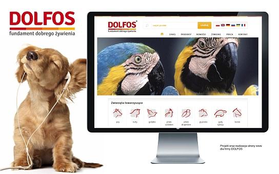Strona internetowa dla Dolfos producent mieszanek dla zwierząt