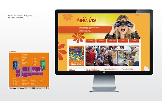 Galeria Sieradzka obsługa strony WWW galerii handlowej w Sieradzu
