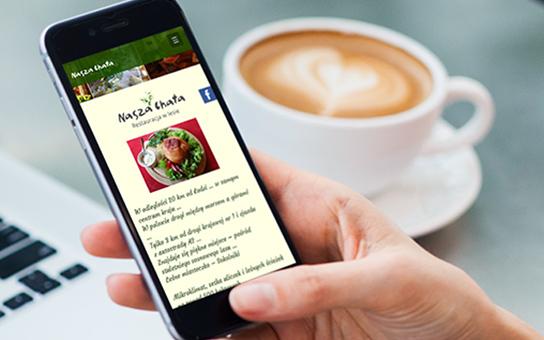 Restauracja Nasza Chata stworzenie strony WWW