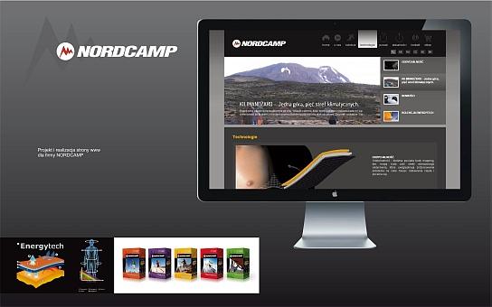 Projekt i realizacja materiałów wspomagających sprzedaż dla fimy Nordcamp
