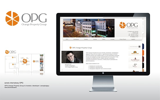 Orange Property Group projekt logotypu, logo OPG, deweloper