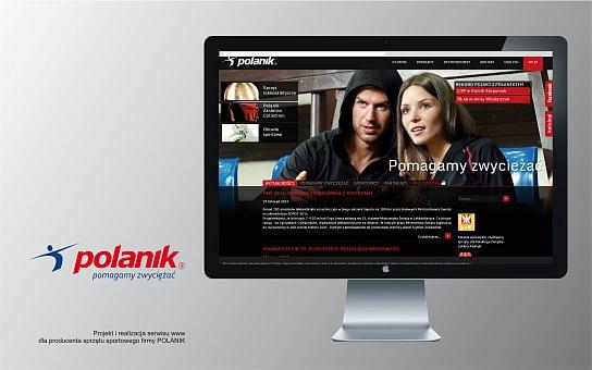 Projekt graficzny i realizacja strony internetowej dla producenta sprzętu sportowego Polanik