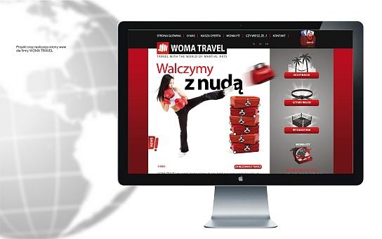 Projekt i realizacja strony WWW dla Woma Travel